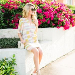 Mara Hoffman Pastel Flag Stripe Dress  kaftan